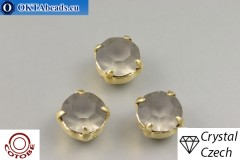 Našívací šaton Preciosa v kotlíku + COTOBE pokov Black Diamond Matt - Gold ss39/8,4mm, 1ks