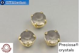 Пришивные шатоны Прециоза в цапах + COTOBE покрытие Black Diamond Matt - Золото ss39/8,4мм, 1шт CT-PR-39-BLD-F-G