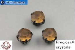 Пришивные шатоны Прециоза в цапах + COTOBE покрытие Smoked Topaz Matt - Черные ss39/8,4мм, 1шт CT-PR-39-STO-F-B