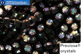 Strass chain Preciosa Maxima Crystal AB - Black ss12/3,2mm, 10cm PR_rtz_005