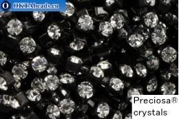 Стразовая цепочка Прециоза Максима Crystal - Черные ss12/3,2мм, 10см PR_rtz_002