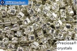 Стразовая цепочка Прециоза Максима Crystal - Серебро ss12/3,2мм, 10см PR_rtz_001