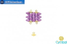 Komia bead ending 24kt gold plate for GemDuo 1pc CYM-015
