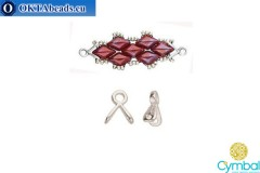 Triades bead ending antique silver plate for GemDuo 1pc CYM-002