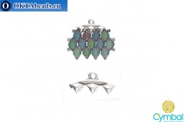 Vani III bead ending antique silver plate for GemDuo 1pc CYM-005