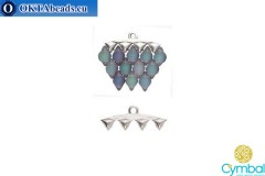 Vani IV bead ending antique silver plate for GemDuo 1pc CYM-006