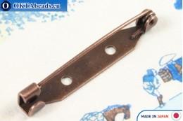 Bižuterní brožový můstek Japonsko Antique Copper 35mm, 1ks JBP022