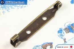 Bižuterní brožový můstek Japonsko Antique Gold 35mm, 1ks JBP021