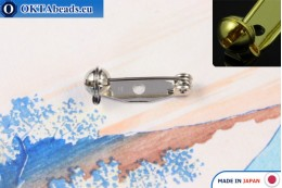 Bižuterní brožový můstek Japonsko Nikl 20mm, 1ks JBP020