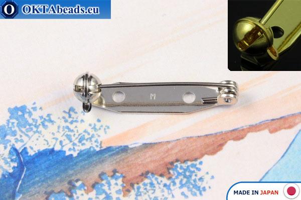 Основа для броши Япония Никель 28мм, 1шт – интернет магазин купить бисер бусины фурнитура JBP001