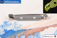 Bižuterní brožový můstek Japonsko Nikl 35mm, 1ks JBP006