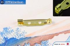 Bižuterní brožový můstek Japonsko Zlato 25mm, 1ks JBP007