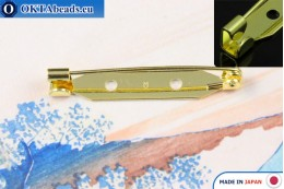 Jewellery brooch pin bar Japan Gold 35mm, 1pc JBP008
