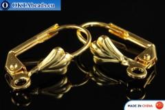 Leverback Earrings gold 15x10mm FCH-0011