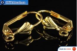 Швензы английский замок золото 15x10мм FCH-0011