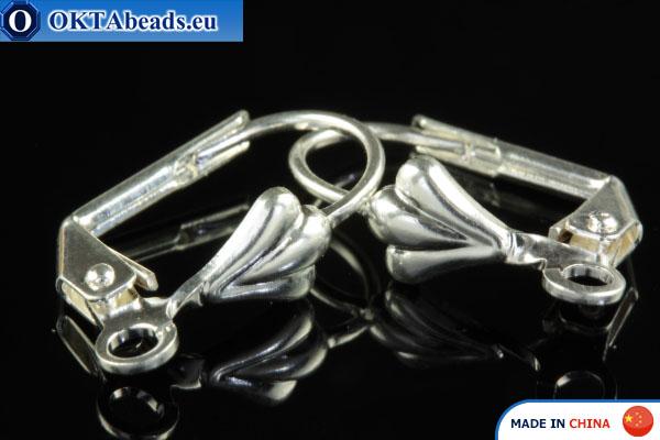 Náušnicové háčky stříbro 15x10mm