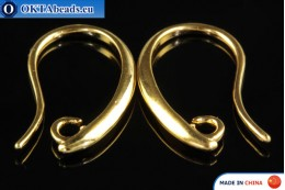 Ear Wire Earrings gold 12x19mm FCH-0013