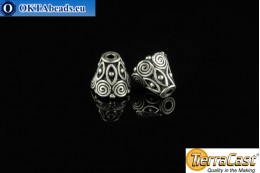 TierraCast Cones silver (5641-12) 9x10mm, 2pc TK-0001