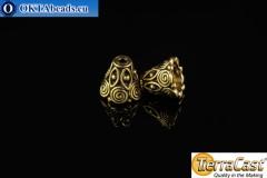 TierraCast Колпачки золото (5641-26) 9x10мм, 2шт TK-0003