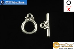 TierraCast Toggle silver (6039-12) X=16mm, 10mm TK-0004
