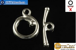 TierraCast Toggle silver (6208-61) X=26mm, 17mm TK-0010