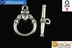 TierraCast Замок-тогл серебро (6217-12) X=23мм, 15мм TK-0011