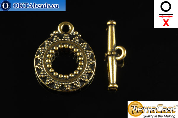 TierraCast Toggle gold (6061-26) X=20mm, 17mm TK-0007