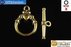 TierraCast Замок-тогл золото (6217-26) X=23мм, 15мм TK-0012