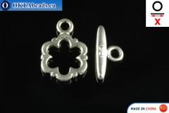 Americké Zapínání stříbro X=17mm, 13mm