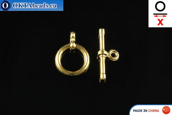Americké Zapínání zlato X=15mm, 10mm