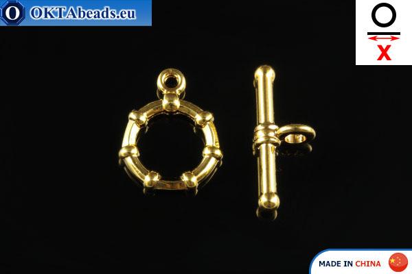Americké Zapínání zlato X=19mm, 12mm