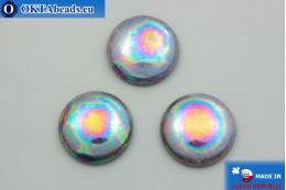Czech glass cabochon iris 25mm, 1pc GC033
