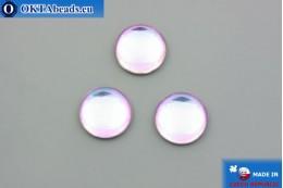 Czech glass cabochon pink blue 18mm, 1pc GC034