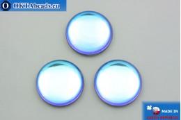Czech glass cabochon blue lilac 25mm, 1pc GC037