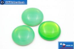 Чешский стеклянный кабошон зеленый 25мм, 1шт GC005