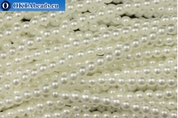 Czech glass pearls white (70402) 4mm, ~60pc 4-GPR029
