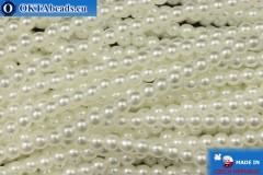 Чешский стеклянный жемчуг белый (70402) 3мм, ~75шт 3-GPR029