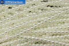 Чешский стеклянный жемчуг белый (70402) 4мм, ~60шт 4-GPR029