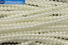 Чешский стеклянный жемчуг белый матовый (70402M) 4мм, ~60шт 4-GPR030