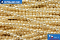 Czech glass pearls beige (70414) 3mm, ~75pc 3-GPR023