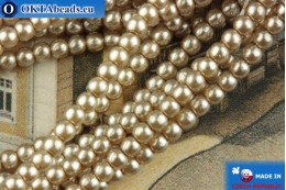 Czech glass pearls beige 2mm, ~75pc 2-GPR019