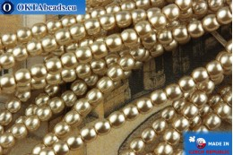 Czech glass pearls beige 2mm, ~75pc 2-GPR021