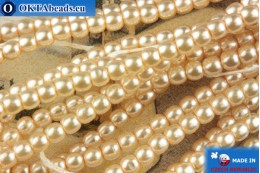 Czech glass pearls beige 2mm, ~75pc 2-GPR025