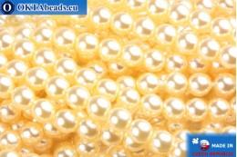 Czech glass pearls beige 4mm, 60pc GPR406