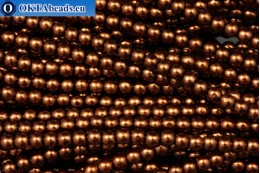 Czech glass pearls bronze (70019) 4mm, ~60pc 4-GPR019