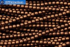 Czech glass pearls bronze matte (70019M) 4mm, ~60pc 4-GPR020