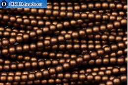 Czech glass pearls bronze matte (70019M) 4mm, ~60pc 4-GPR020