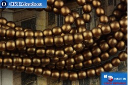 Czech glass pearls bronze matte 2mm, ~75pc 2-GPR002