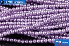 České voskové perle fialový (70022) 2mm, ~75ks