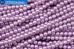 České voskové perle fialový (70022) 4mm, ~60ks 4-GPR031